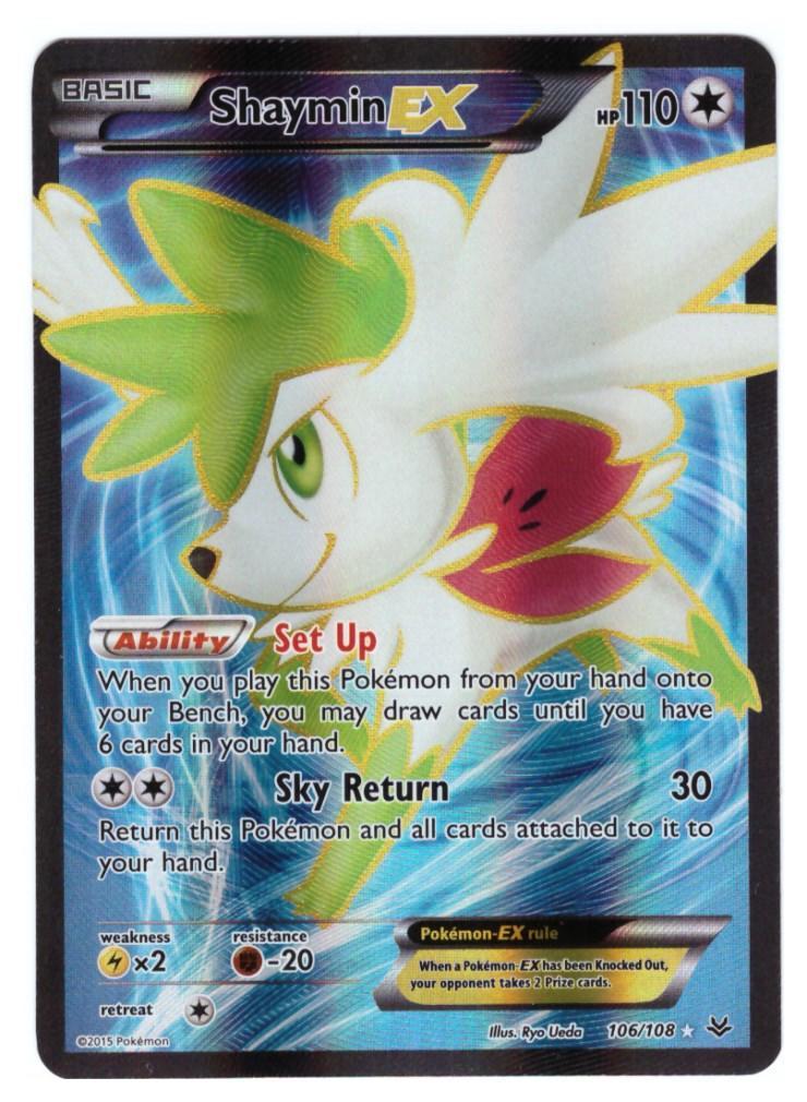 Pokemon Card Full Art Shaymin Ex Xy Roaring Skies 106108 Ultra
