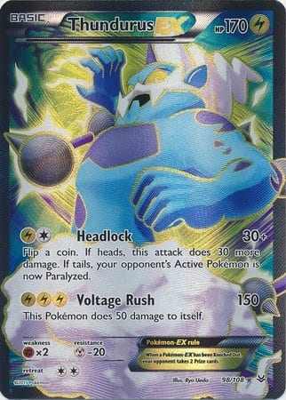 98/108 – Thundurus-EX -Full Art Ultra Rare Near Mint
