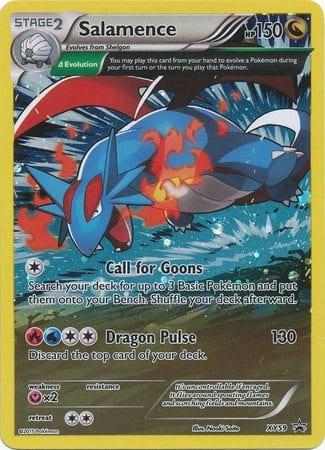 XY59 Salamence Pokemon Promo Ultra Rare Full Art Black Star Promo Near Mint Pokemon Card