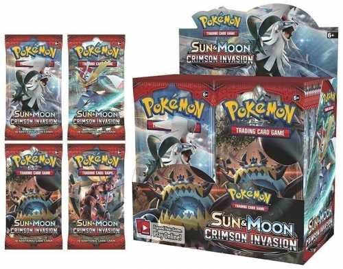 POKÉMON TCG Sun and Moon Crimson Invasion Booster