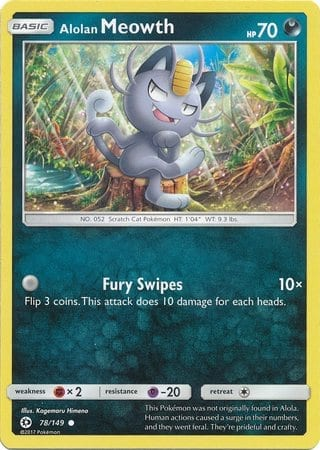 Alolan Meowth – 78/149 – Common