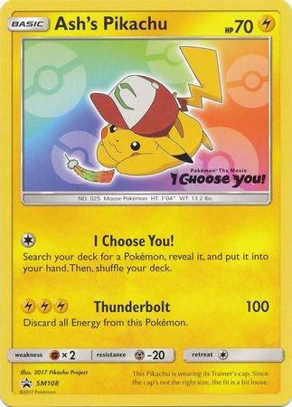 Ash's Pikachu – SM108 – I Choose You Promo
