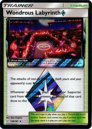Wondrous Labyrinth Prism Star – 158/181 – Holo Rare