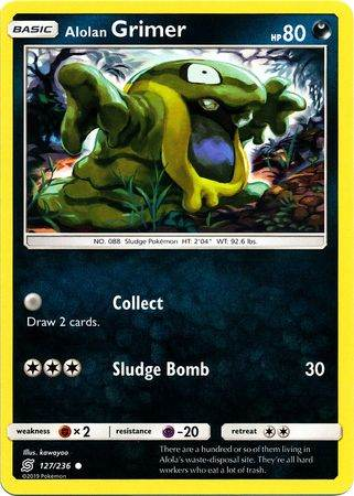 Alolan Grimer – 127/236 – Common – Pokemon Card