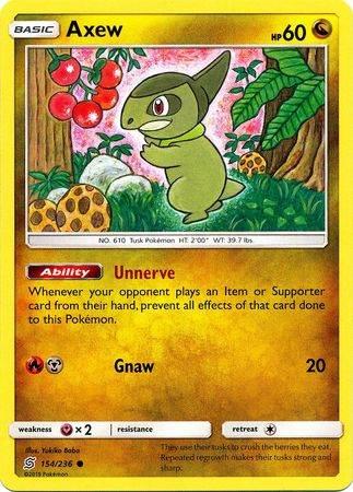 Axew – 154/236 – Common – Pokemon Card