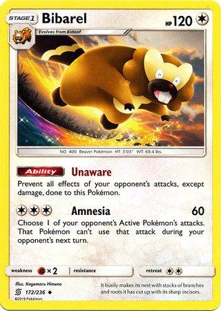 Bibarel – 172/236 – Uncommon – Pokemon Card