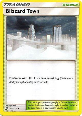 Blizzard Town – 187/236 – Uncommon – Pokemon Card