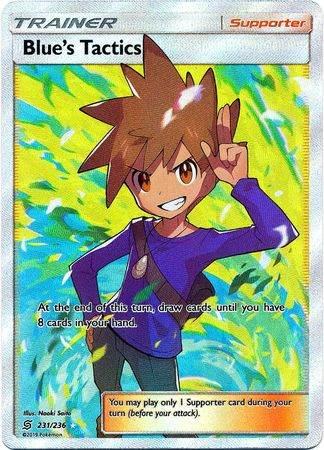 Blue's Tactics – 231/236 – Full Art Ultra Rare – Pokemon Card