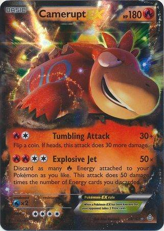 Camerupt EX – 29/160 – Ultra Rare