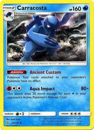 Carracosta – 45/236 – Uncommon – Pokemon Card