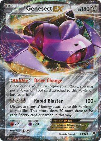 Genesect EX – 64/124 – Ultra Rare