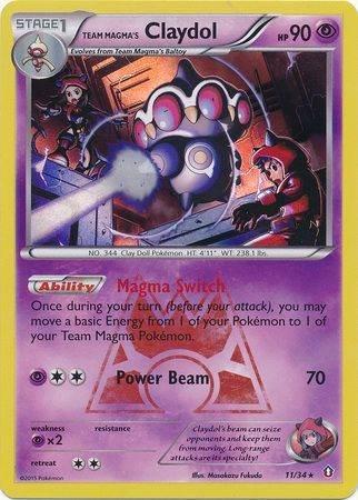 Team Magma's Claydol – 11/34 – Holo Rare