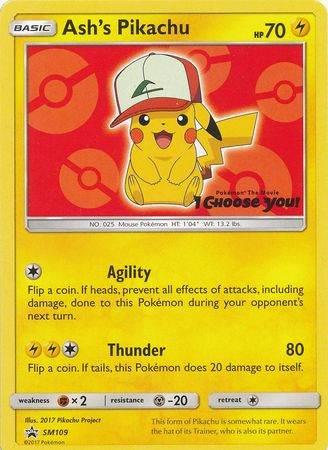 Ash's Pikachu – SM109 – Non-Holo Promo