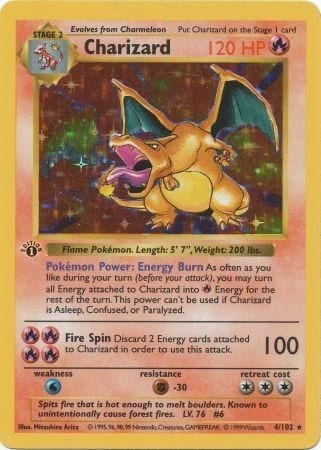 1st edition charizard.