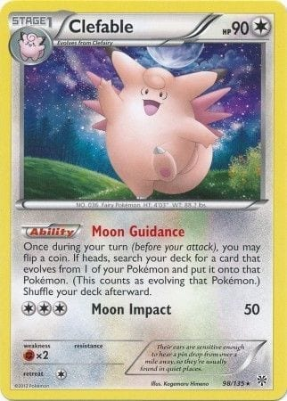 Clefable – 98/135 – Rare