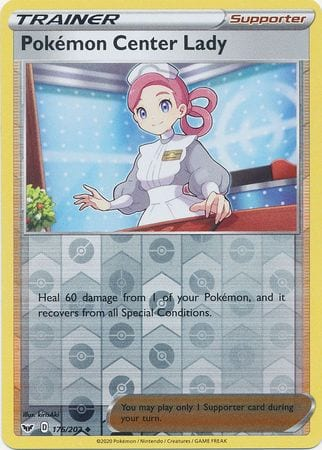 Pokemon Center Lady – 176/202 – Uncommon Reverse Holo