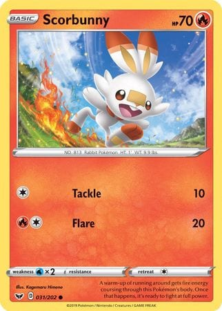 Scorbunny – 031/202 – Holo Common