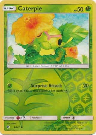 Caterpie – 1/147 – Common Reverse Holo