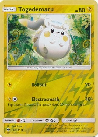 Togedemaru – 47/147 – Common Reverse Holo